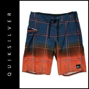 Quiksilver Mens Plaid & Check Board Swim Shorts 32
